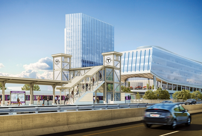 The $84 million, 150,000-sf Boston Landing commuter rail station, Boston