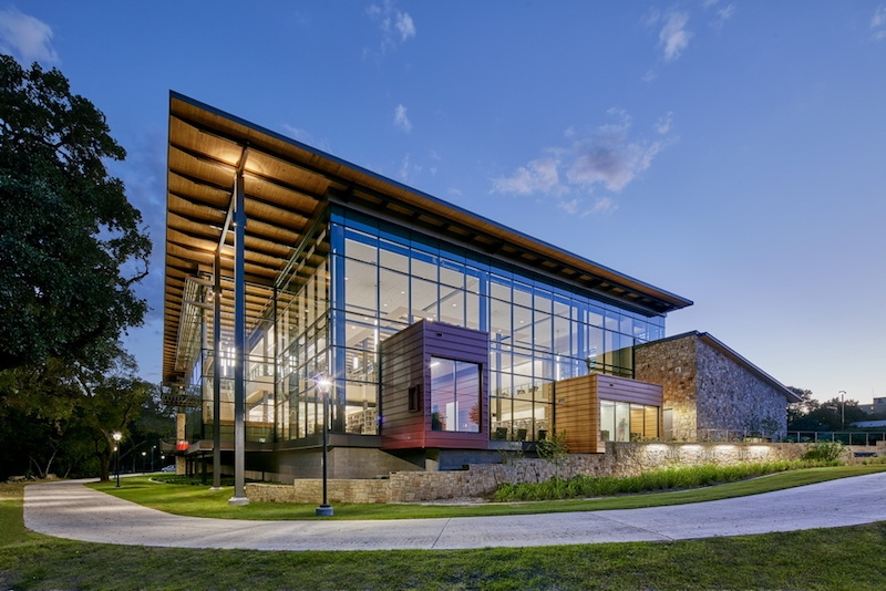 The exterior of the Seguin Library