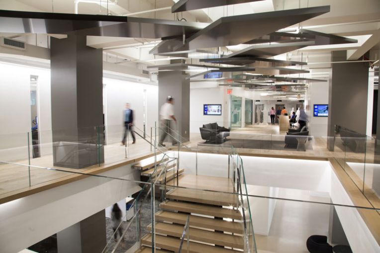 Structure Tone New York City headquarters at 330 West 34th Street in Manhattan. Photo courtesy Structure Tone