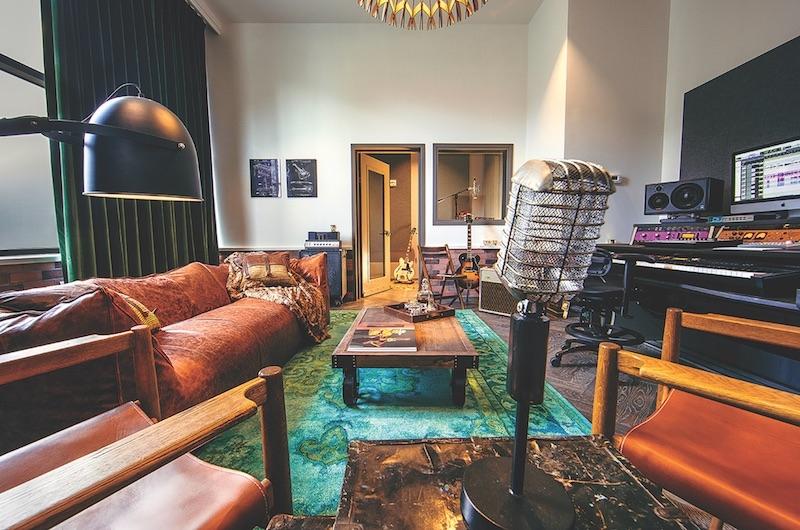 Recording studio at Hutton Hotel