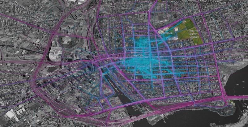 Sasaki Associates used detailed network visualizations like this traffic flow pa