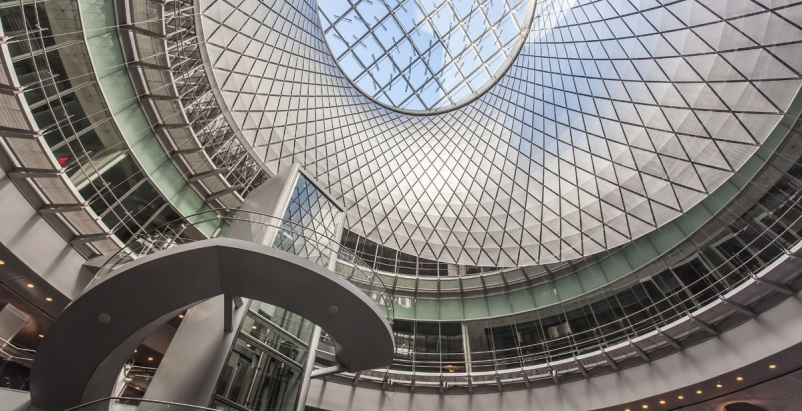 Fulton Center Transit Hub Relies on Matched Fire-Rated and Non-Fire-Rated Curtain Wall Systems from TGP for a Light-flooded Space