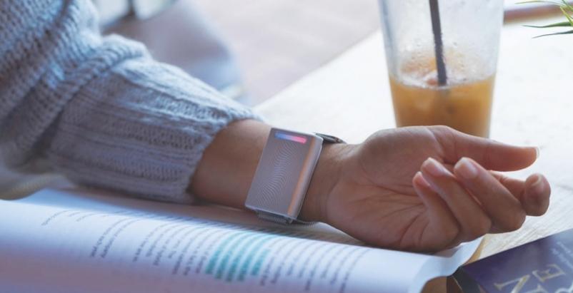 Embr Wave on a woman's wrist