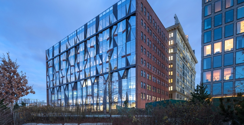 10 Jay Street's unitized 'sugar crystal' façade was engineered  to withstand the water and wind from New York's East River.