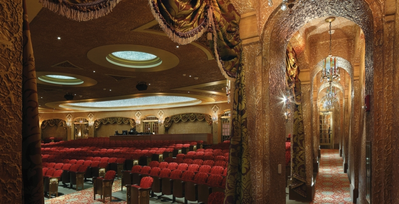 The Paramount Theatre of Cedar Rapids, Iowa, was heavily damaged by flooding in