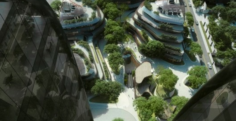 The plans for Chaoyang Park Plaza were floated two years ago, and now the design
