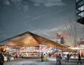 Calgary arena in winter