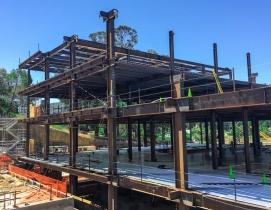 A hospital under construction