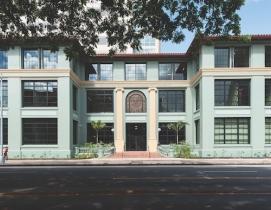 The distinctive Beaux Arts building