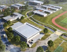 Aerial rendering of Kihei High School