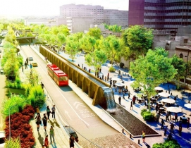 """Proposed """"High Line"""" in Mexico City pays homage to Aztec aqueduct"""