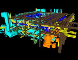 3D model of a project