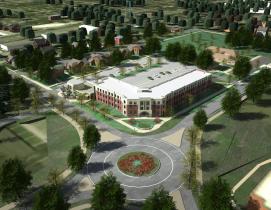 Aerial view of new SDSU apartment neighborhood