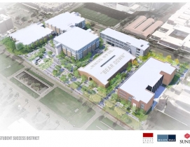 Bird's eye view of UA Student Success District