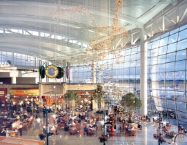 The 130,000-sf Great Hall in the central terminal at Seattle-Tacoma Internationa