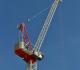 Terex CTL 272-18 luffing jib tower crane has a 200-foot maximum jib length