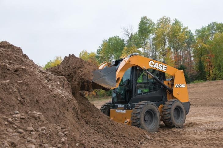 Radial-lift skid steer loaders are usually a better option for digging and grading tasks.