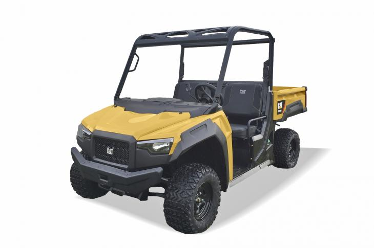 Cat CUV102D utility vehicles feature steel cargo beds