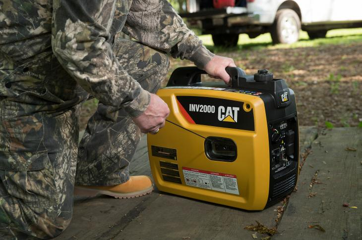 The INV2000 portable inverter generator features an easy start switch and an OSHA-compliant GFCI.