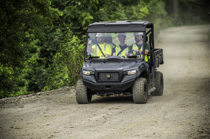 Cushman Hauler 4x4 series of utility vehicles have towing capacity of 2,000 pounds