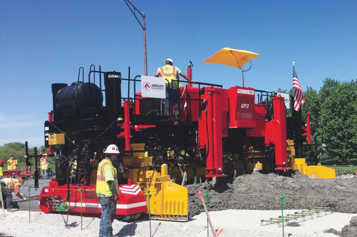 GOMACO GP3 slipform paver is available in a two track configuration