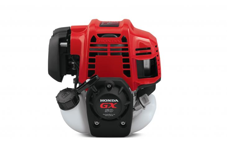 The GX50 Mini-Four Stroke engine is designed to power products ranging from brush cutters to rammers and vibrators to concrete screeds, post drivers, and winches.