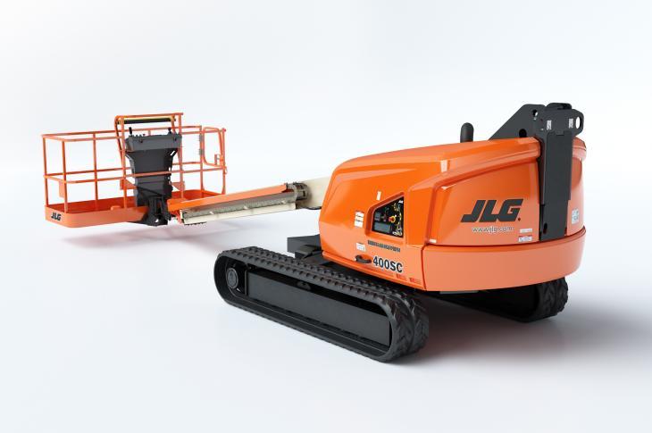 JLG 400SC crawler boom lift has a lift height of 40 feet