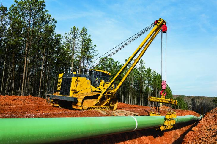 The 350 horsepower 1050K is the largest crawler platform offered by John Deere, and it serves as the base for the new pipelayers
