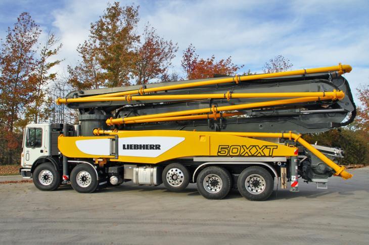 Liebherr 50 M5 XXT extends the range of truck-mounted concrete pumps