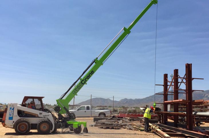SkidCrane Hydraulic Crane Attachment for Skid Steers
