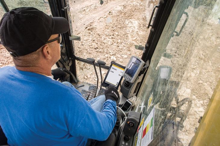The company has integrated Loadrite Payload Management into its Earthworks Grade Control Platform for Excavators, allowing contractors to track bucket-by-bucket payload and monitor mass haul progress—by calculating the total weight loaded onto each truck—from the same Earthworks display.