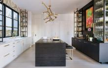 Gilmer Kitchen with island and bookcase