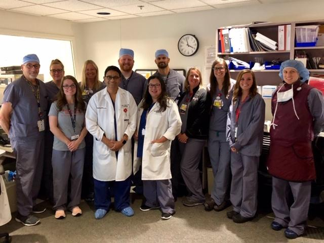 The cath lab staff UH Portage Medical Center.