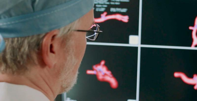 As interventional procedures become more complex, one of the biggest issues is the ability of operators to see the devices they are using in the soft tissue anatomy that is mostly invisible under 2-D fluoroscopy. Several companies have developed new navigation aids, including multimodality fusion imaging software from Philips, GE and Siemens. This image shows a new system being developed by Centerline Biomedical. There is a more detailed image below.