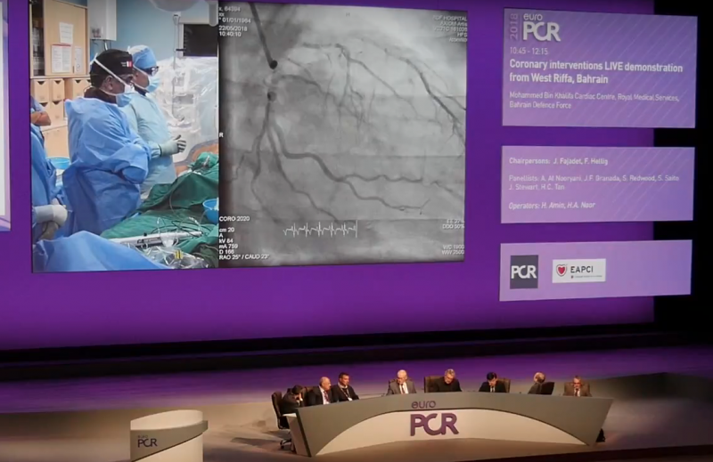 EuroPCR conference live case presentation. PCR late-breaking trials.