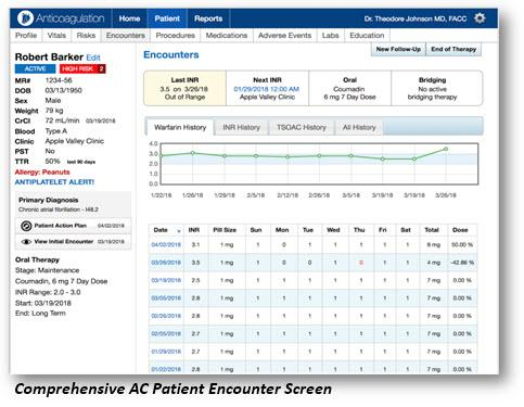 Point of Care Decision Support Releases New Version of Anticoagulation Software