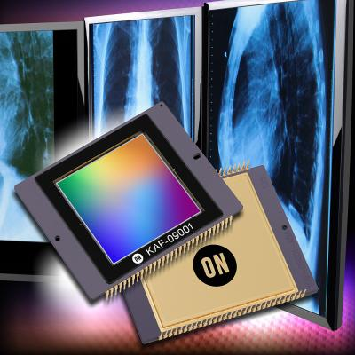 ON Semiconductor, KAF-09001 image sensor, video imaging, digital radiography, angiography, radiographic fluoroscopy, R/F systems