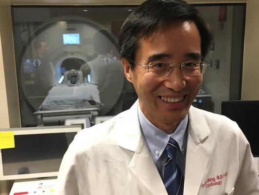 Haojie Wang, M.D., director of advanced cardiovascular MRI and a member of the heart valve clinic at Baylor Scott White Heart Hospital, Dallas. His hospital installed a dedicated cardiac Siemens 1.5T MRI scanner in 2018 because MRI offers soft tissue visualization not available on CT or ultrasound.