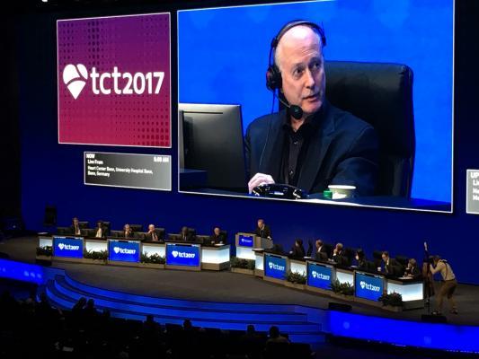 cardiologist Ted Feldman, M.D., at TCT 2017. #TCT2018 #TCT #TCT18 TCT Late breaking trials, studies.