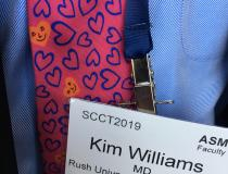 The best cardiology related tie seen at the conference was worn by former ACC president Kim Allan Williams, Sr., M.D., chief of the Division of Cardiology and the James B. Herrick Professor at Rush University Medical Center. Here is a VIDEO with Williams on why he adopted a vegetarian diet  for his cardiac health - www.dicardiology.com/videos/video-use-plant-based-diet-reduce-cardiovascular-disease-risk