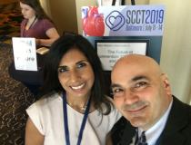 Kavitha Chinnaiyan, M.D., FACC, FSCCT, associate professor, Oakland University, William Beaumont School of Medicine, with DAIC Editor Dave Fornell at SCCT 2019. She spoke on use of FFR-CT at her hospital and offered an overview in the VIDEO: Using FFR-CT in Everyday Practice — https://www.dicardiology.com/videos/video-using-ffr-ct-everyday-practice