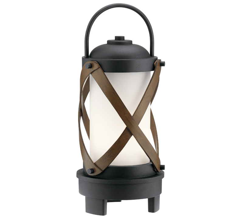 Berryhill Portable Bluetooth LED Lantern in Matte Black with leather straps from Kichler Lighting