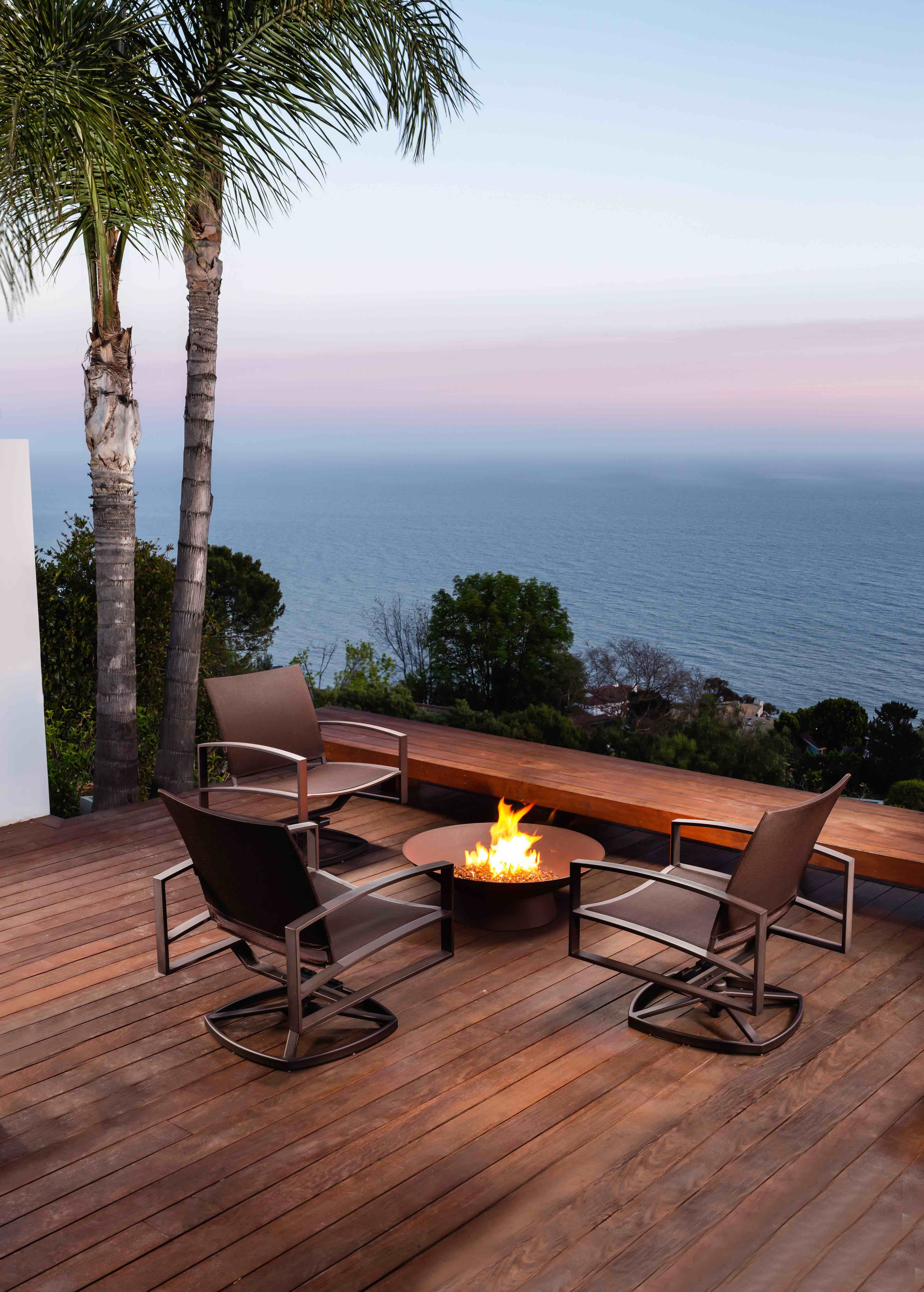 OW Lee Basso fire bowl Pacific motion chairs