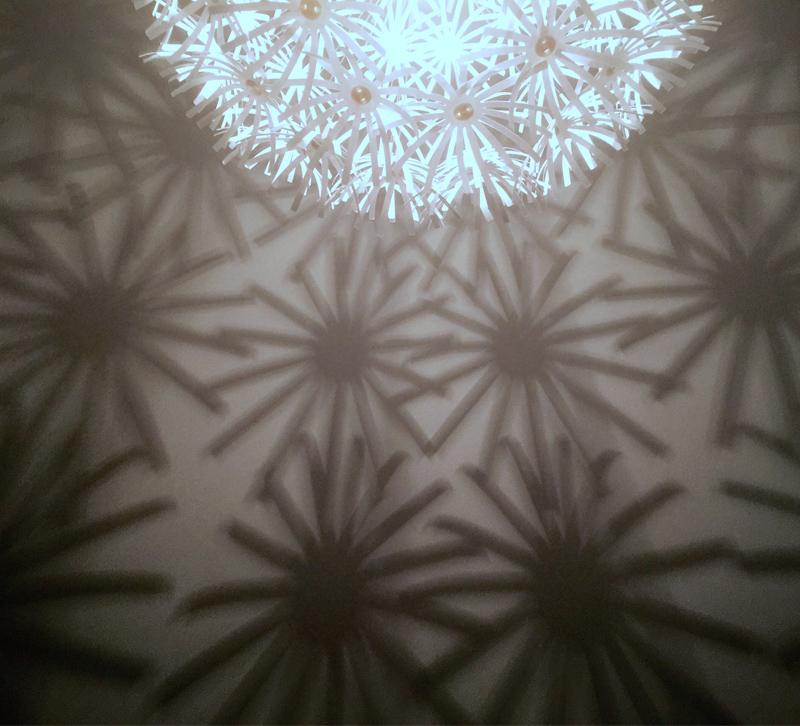 light play white flower light fixture