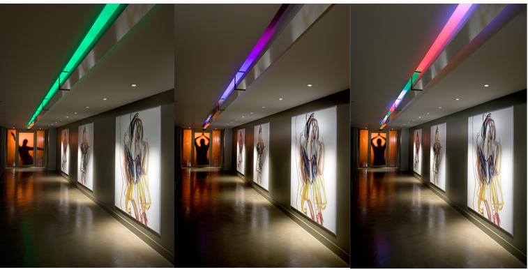 museum installation lighting