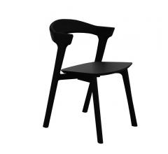 Oak Bok Dining Chair in black with no back and a rounded frame from Ethnicraft