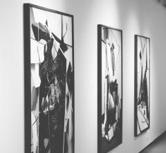 Artwork hanging in a hallway