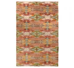Shiloh abstract colorful hand-knotted jute area rug from Dash & Albert