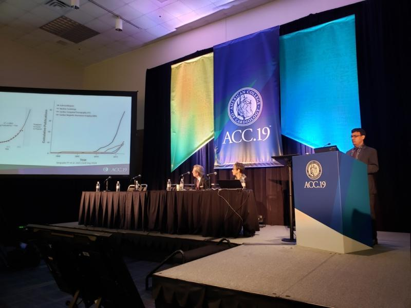 WVU cardiology chief Partho Sengupta, M.D., describes at ACC 2019 how artificial intelligence already helps cardiologists in echocardiography.