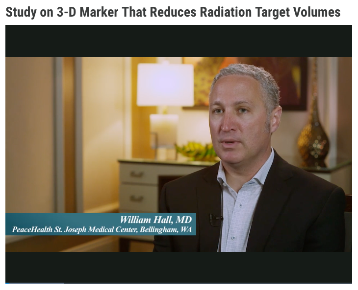 Study on 3-D Marker That Reduces Radiation Target Volumes